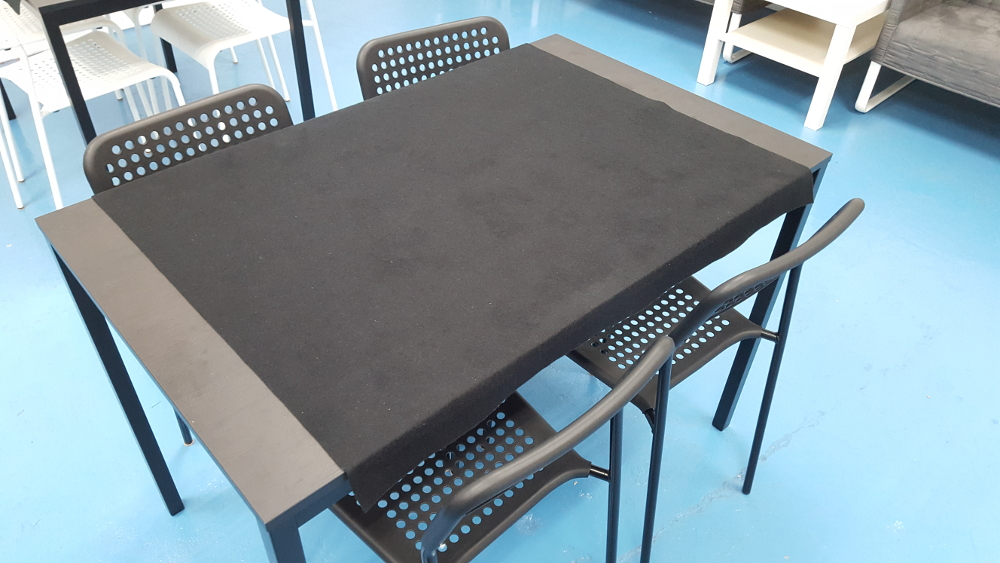 TARENDO table, $49.  Chairs sold separately, felt not included.