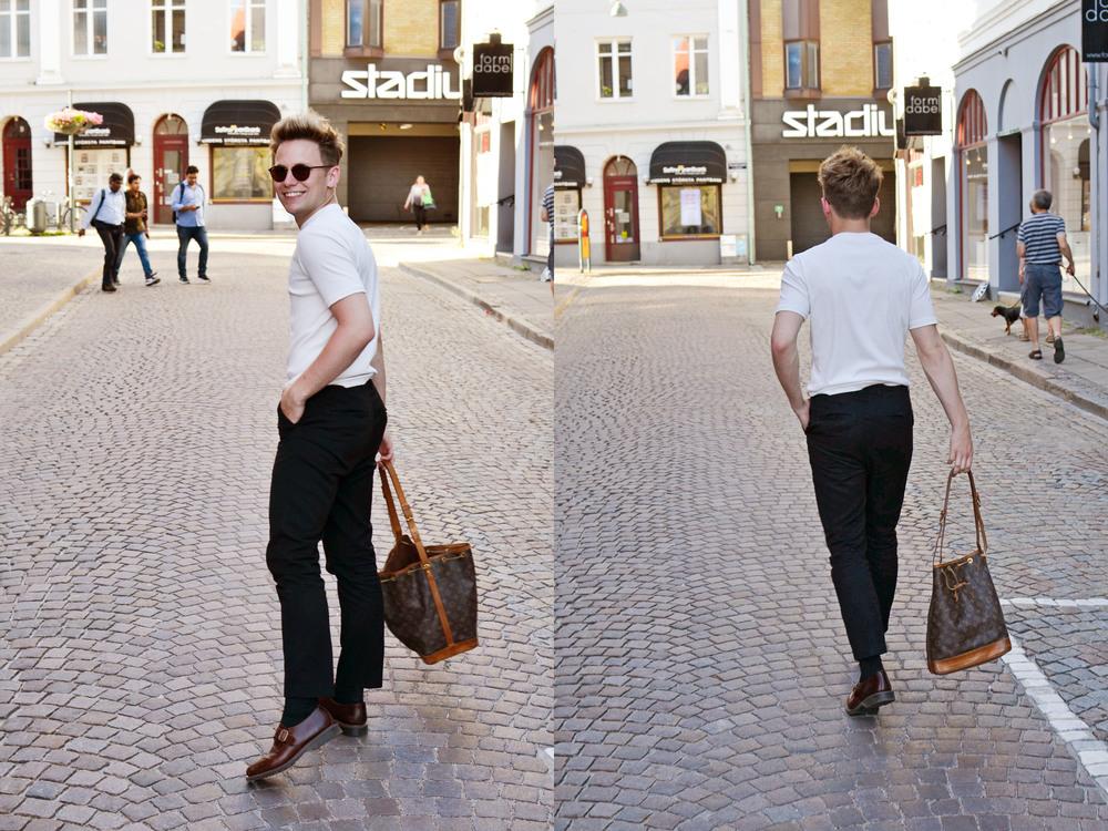 Skor - Dr. Martens | Byxor - MTWTFSS | T-shirt - H&M Trend | Väska - Louis Vuitton | Solglasögon - Ray Ban
