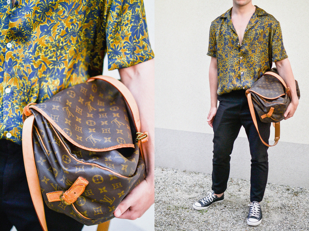 Byxor - MTWTFSS | Skjorta - Zara | Solglasögon - Prada | Väska - Louis Vuitton | Skor - Converse