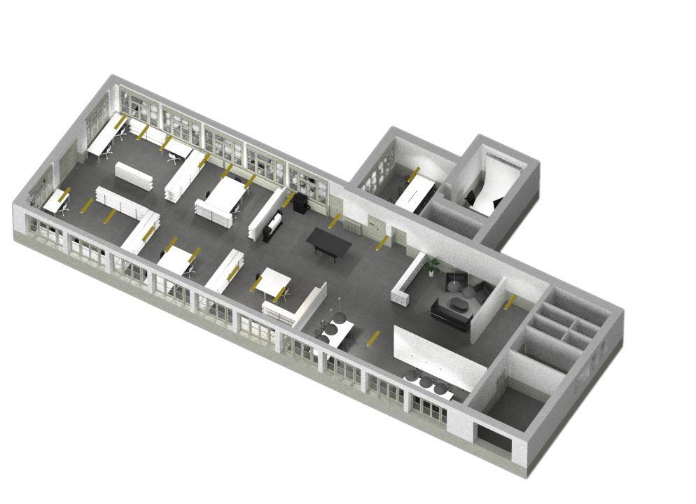 Le plan en 3D isométrique de Studio