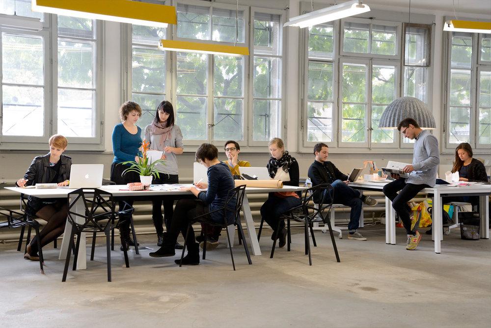 L'équipe pionnière du Design Studio Renens