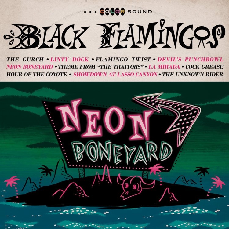 "BLACK FLAMINGOS  ""Neon Boneyard"" (HT-005) Format: LP, CD, Digital"