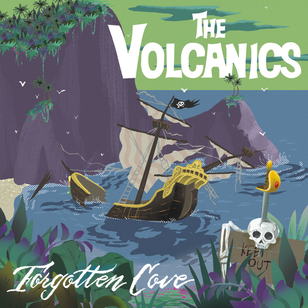 "THE VOLCANICS  ""Forgotten Cove"" (HT-039) Format: CD. Digital"