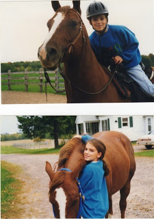 Stormy and me in the early days.