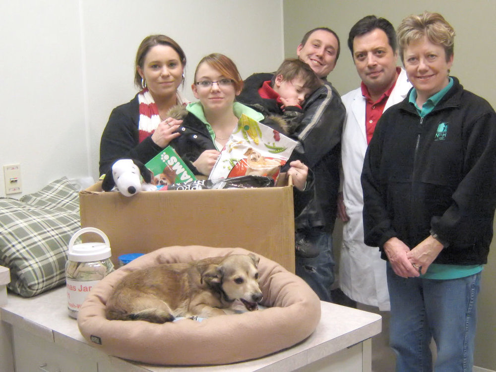 Wiggles reunites with his family at Badger Veterinary Hospital