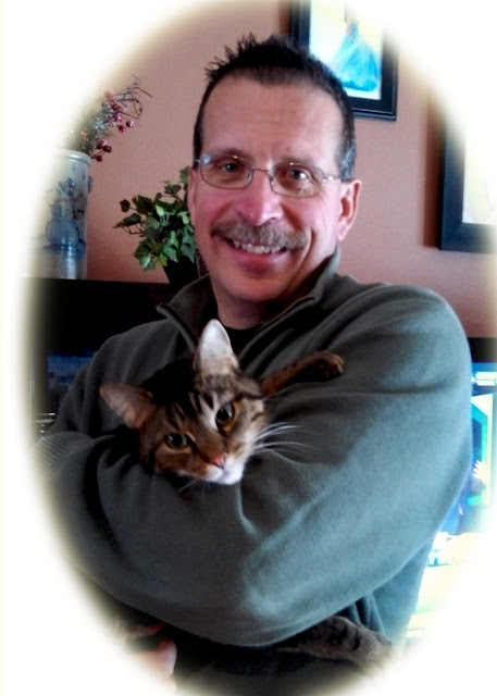 Dr. Scott Spaulidng with Andretti, a cat experiencing Urinary problems
