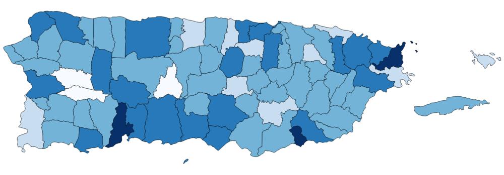 Tasas de mortalidad ajustadas por edad para el período de 18 de septiembre a 31 de diciembre en los tres años previo al huracán María (2014-2016)