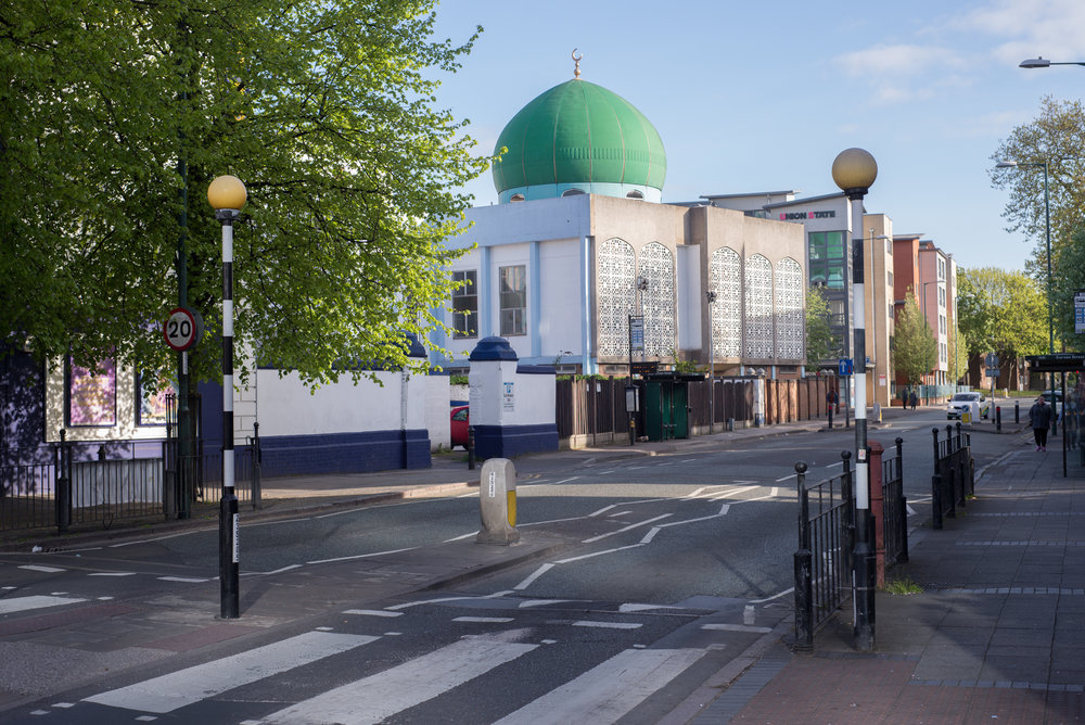 A photo of a mosque in Nottingham, England.