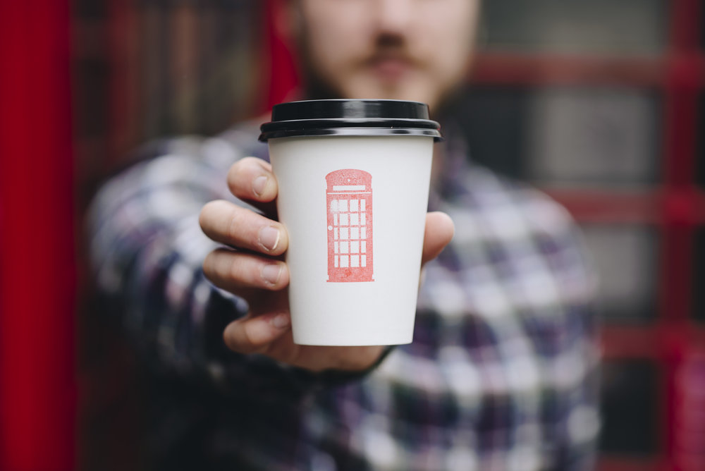 Photography for Nottingham's smallest coffee shop, Dialingin.