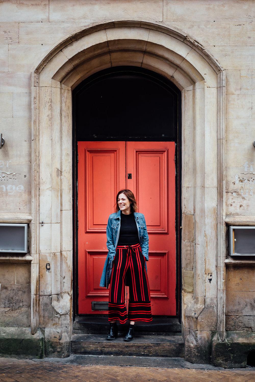 Justine-red-door