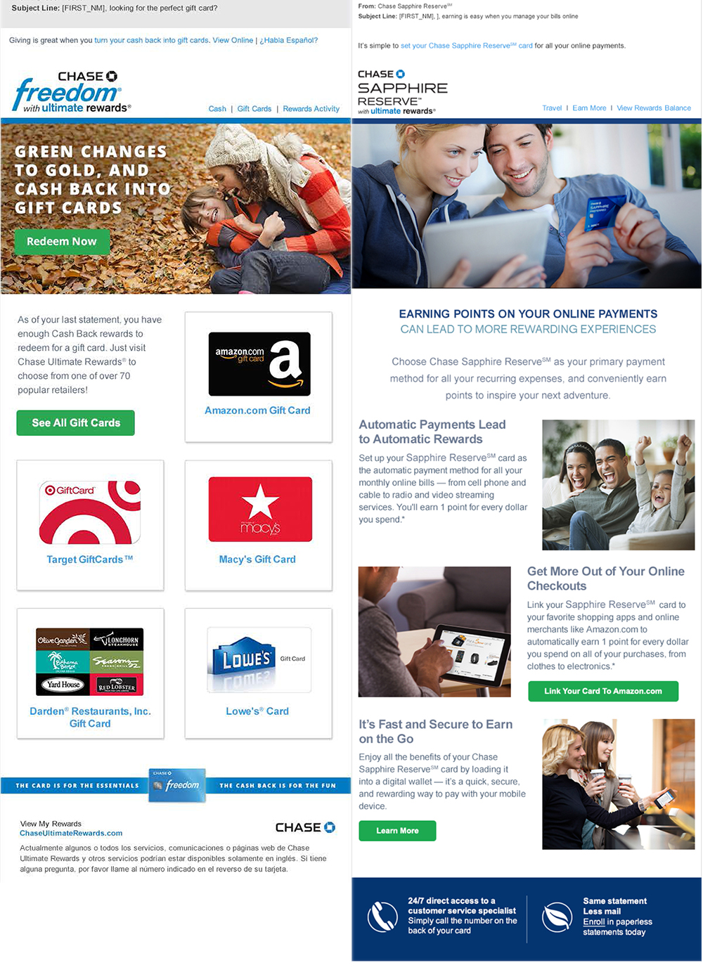 CHASE EMAIL MARKETING FREEDOM SAPPHIRE