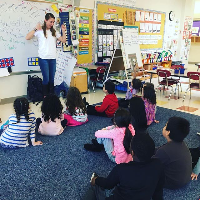 Yesterday, our intern, Megan, and Nina visited the McKinley School to talk about how weather can affect our environment! We made thunderstorms in the classroom and learned how storms can be good and bad for the world around us ⛈