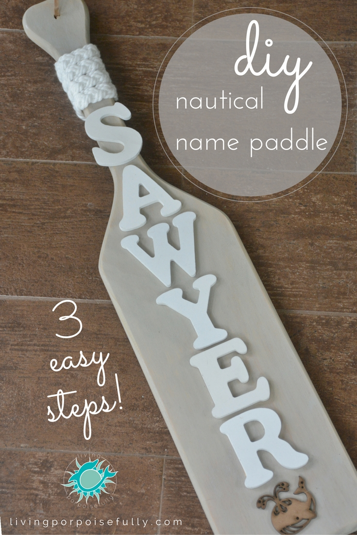 Nautical Name Paddle
