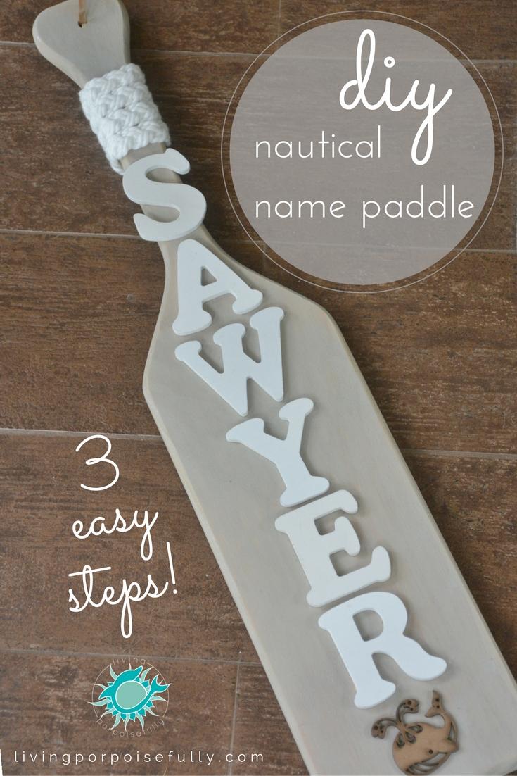 Nautical Name Paddle