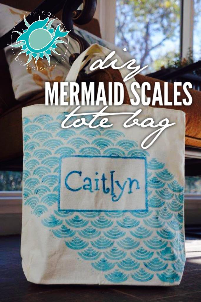 Mermaid Scales Tote Bag