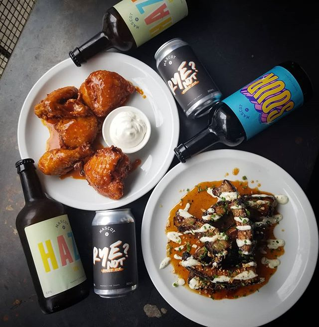 Beer! Ribs! Beer! Fried Chicken! Beer! Mascot X Home of the Brave Tap Takeover Tonight 🍺