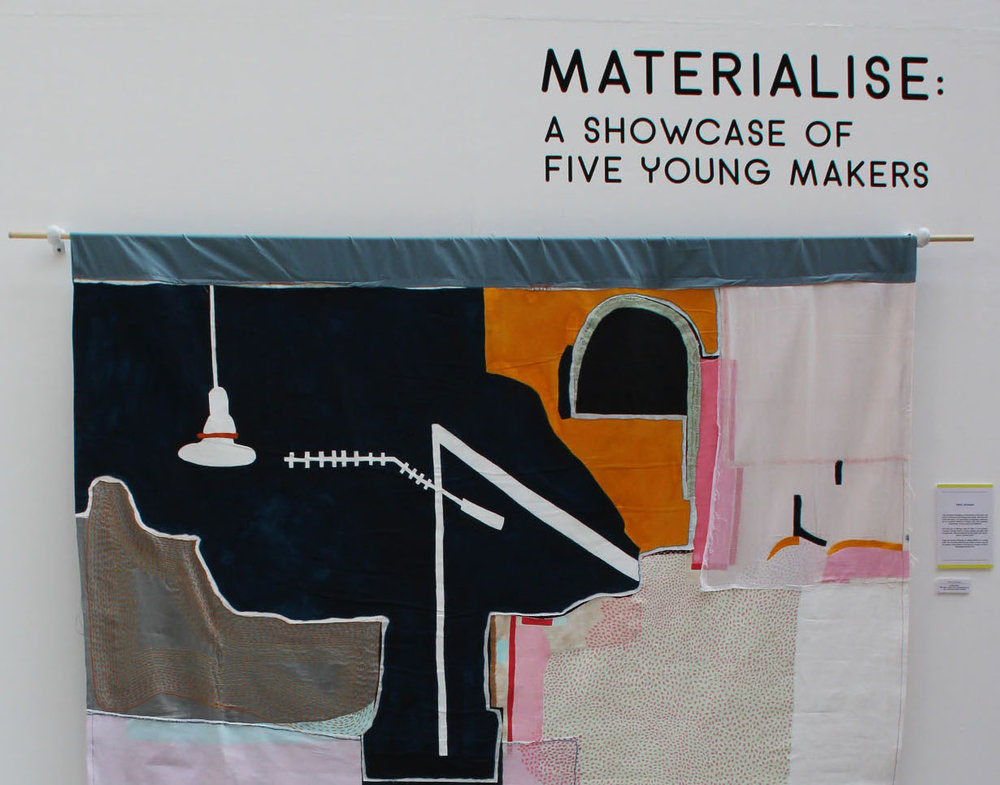 work selected for 'materialise' an exhibition of 5 makers in Manchesters Craft and Design Centre 2018