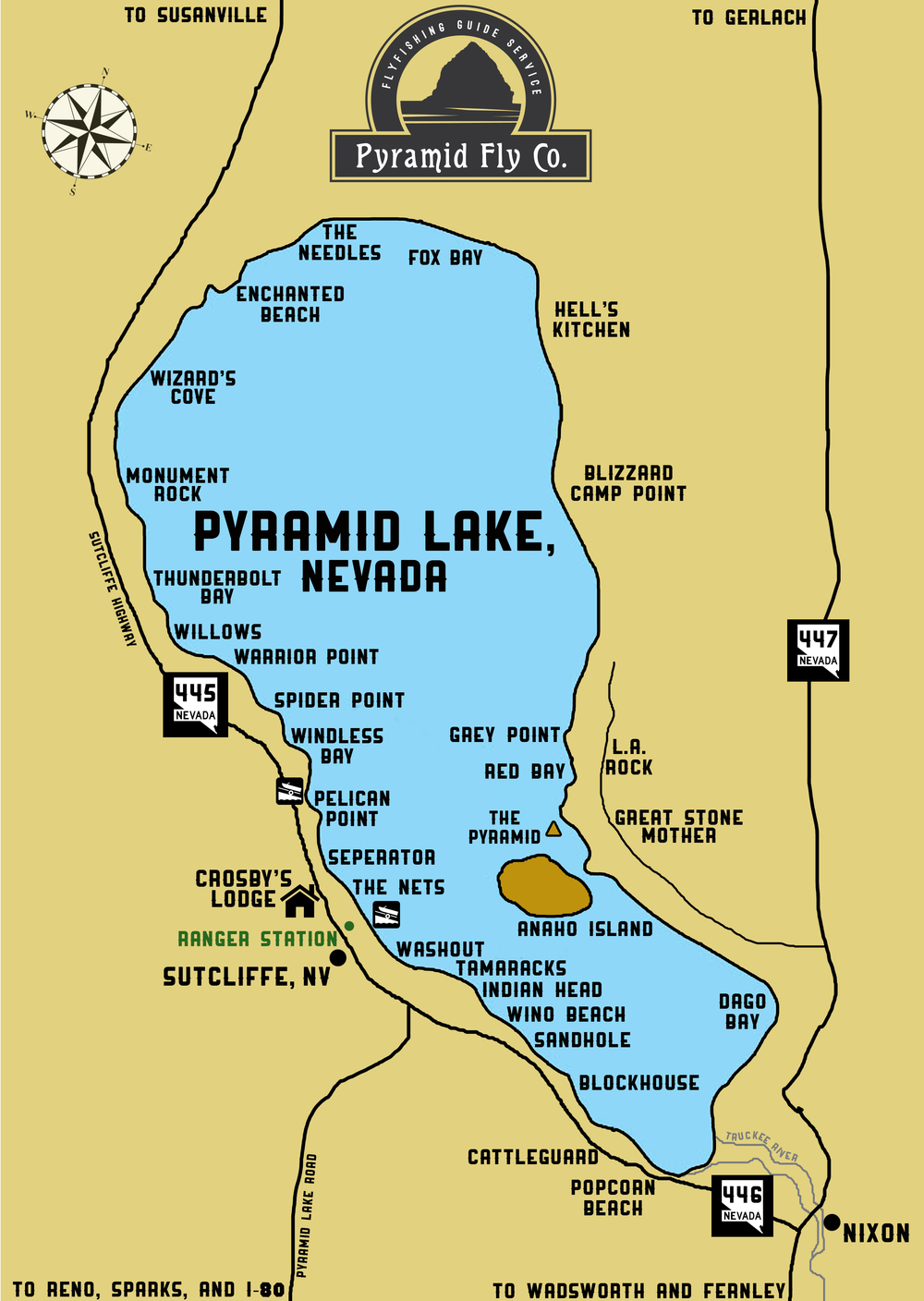 The lake pyramid fly co for Peak fishing times for today