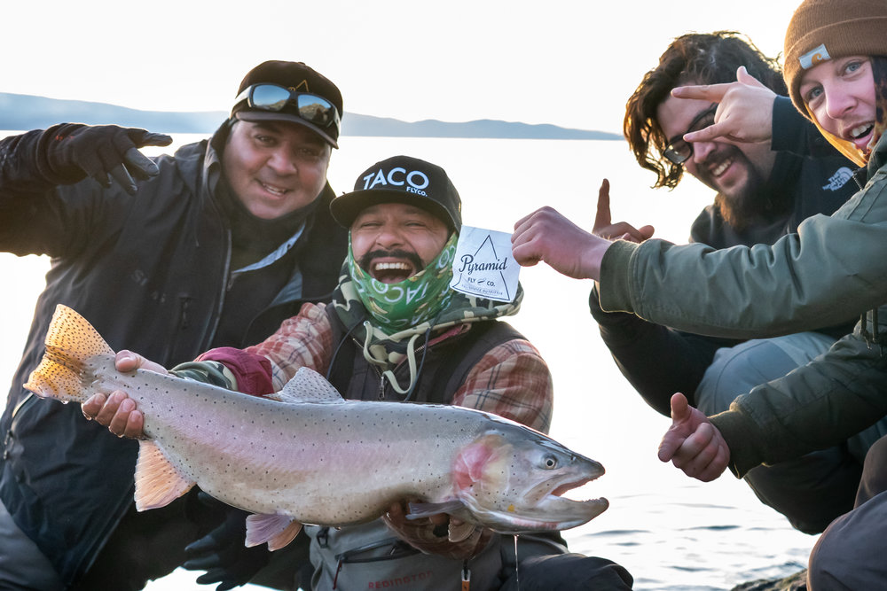 Mario Guel and the TACO FLY CO Crew catching fish and having fun. Isn't that what it's all about ?