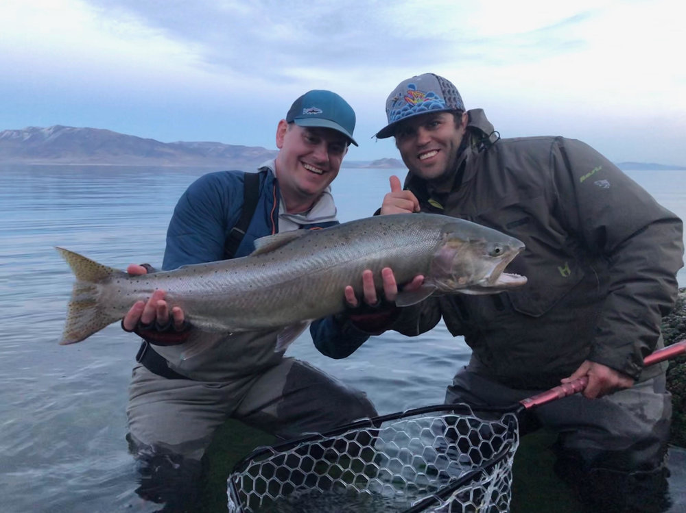 Chris Dorszynski from Colorado and PFC Guide Morgan Kane filled up the Rising Net