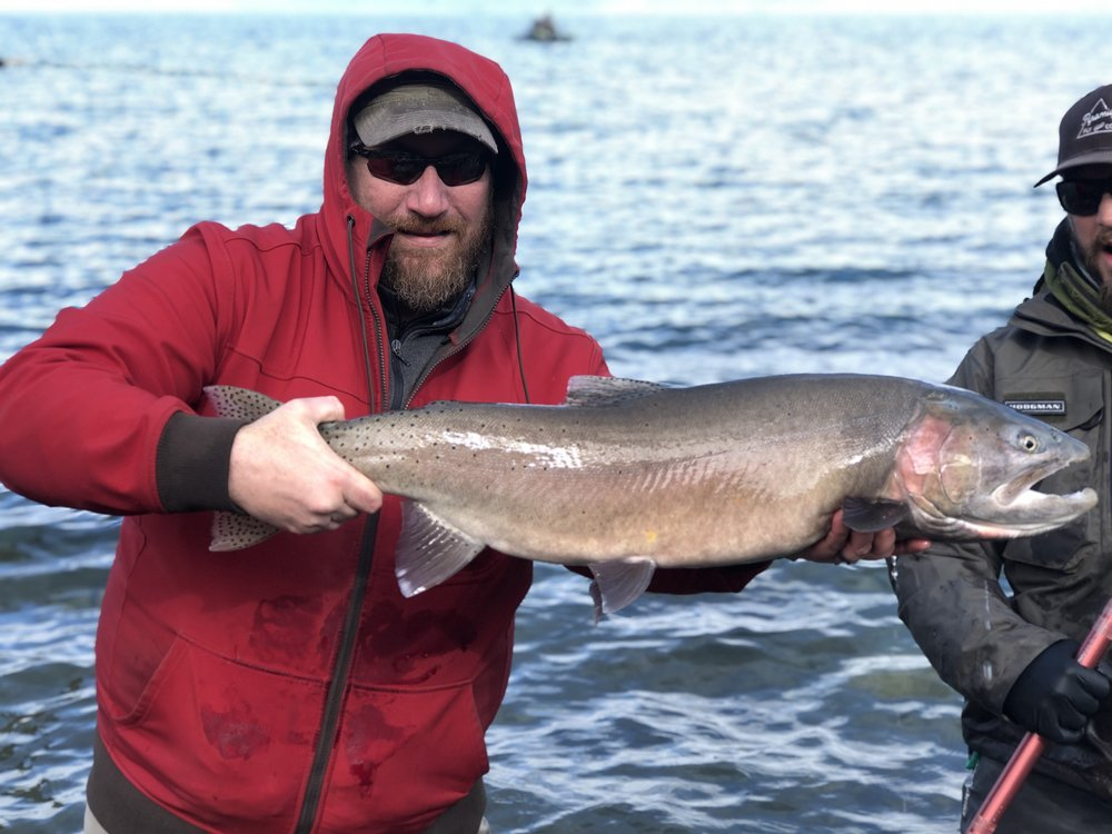 Client Big Luke from Maine with his big cutty.