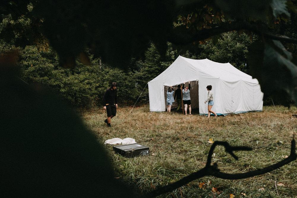 párty stan na svatbu