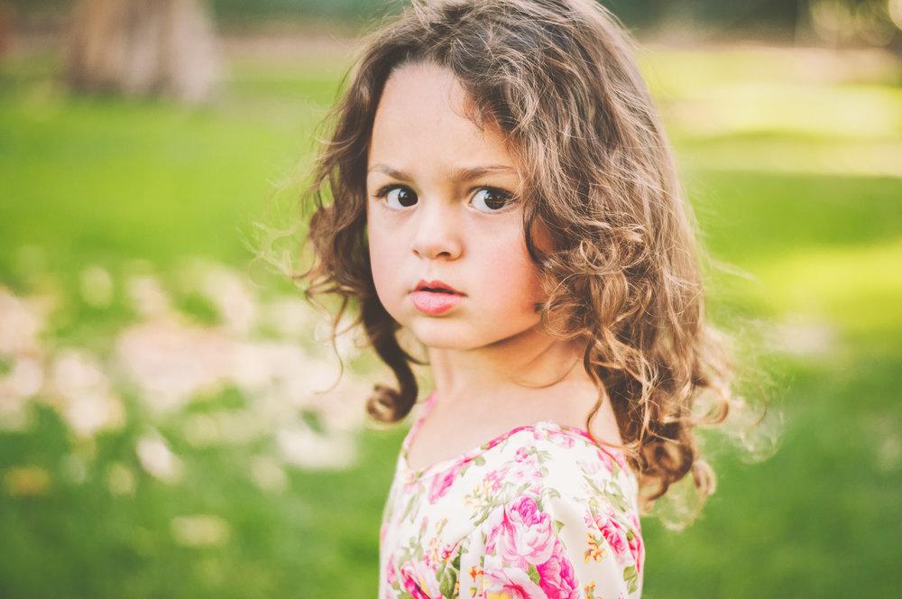 mommy blogger toddler girl in the park