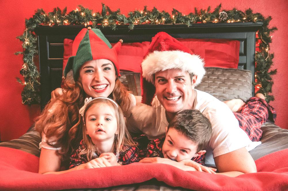 laguna hills christmas family photo shoot in home