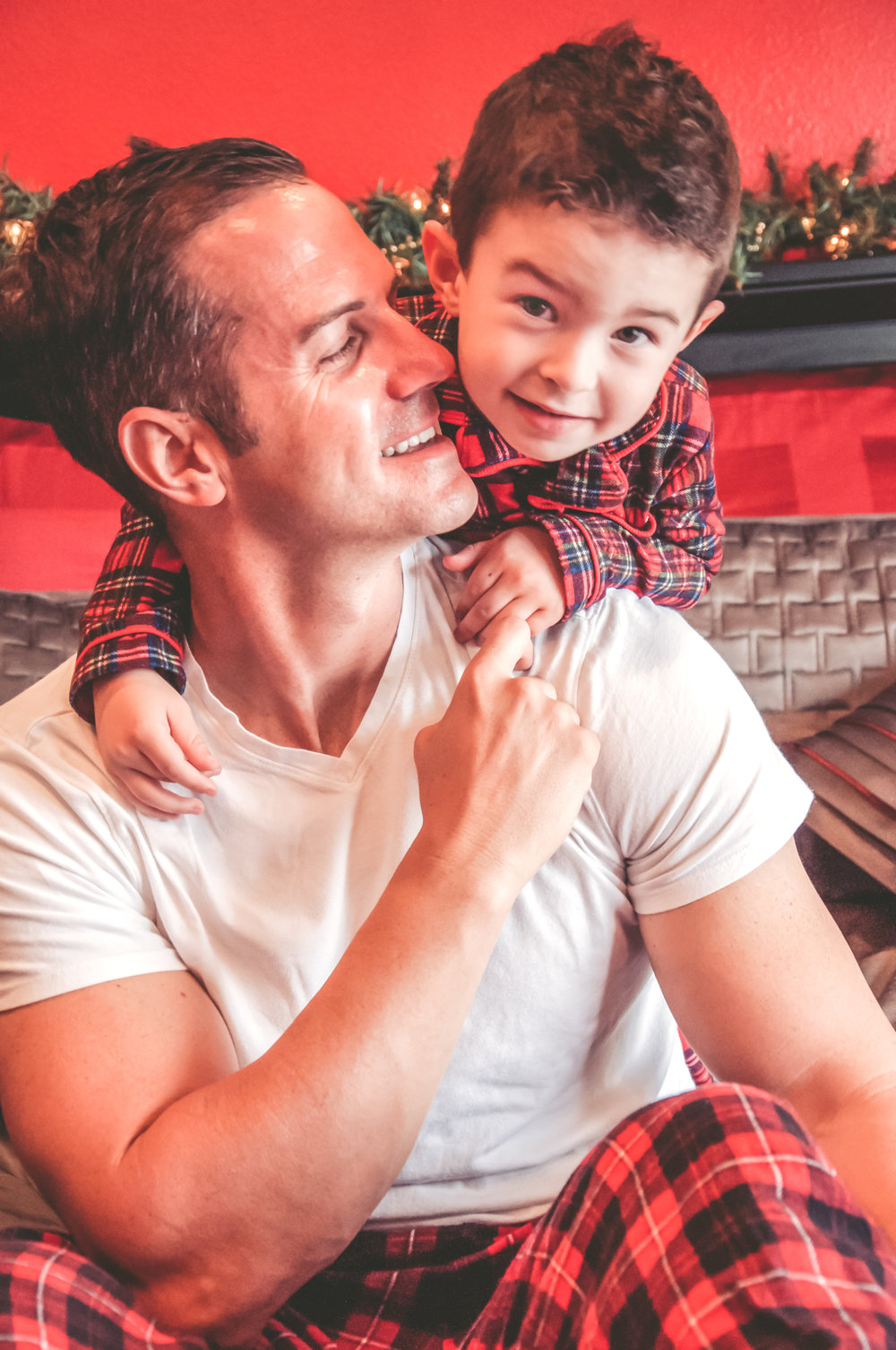 laguna hills holiday photo session daddy and son