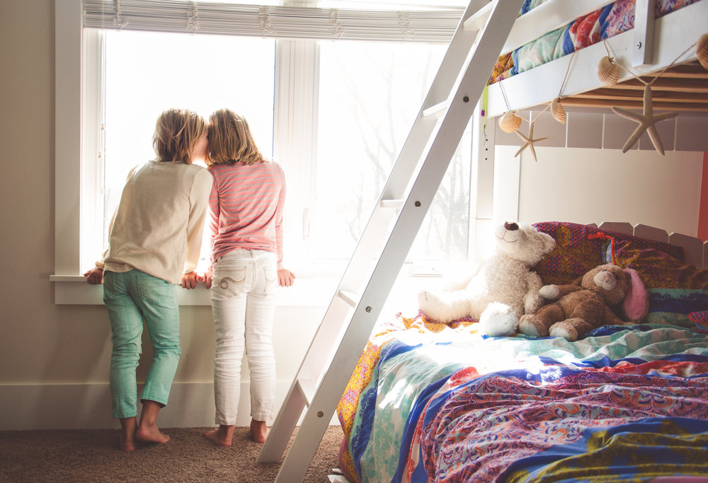 Children Family Sisters Photography at Home Inspiration