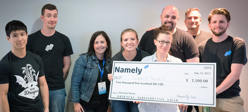 """The Namely Predict team wowed both the audience and judges, taking first place in the """"moonshot"""" category."""
