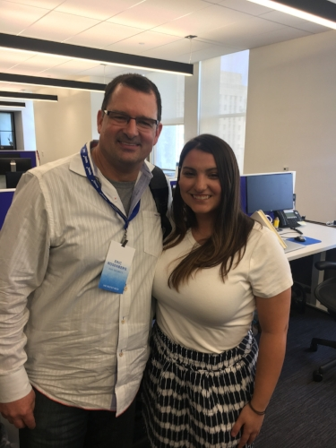 Eric Rosenberg, Sr. Staff Accountant at  Duo Security  with his Namely Support Consultant Katie Kalvin