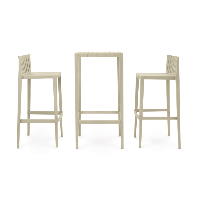 SPRITZ Set  2 Barstools, 1 Bar Table