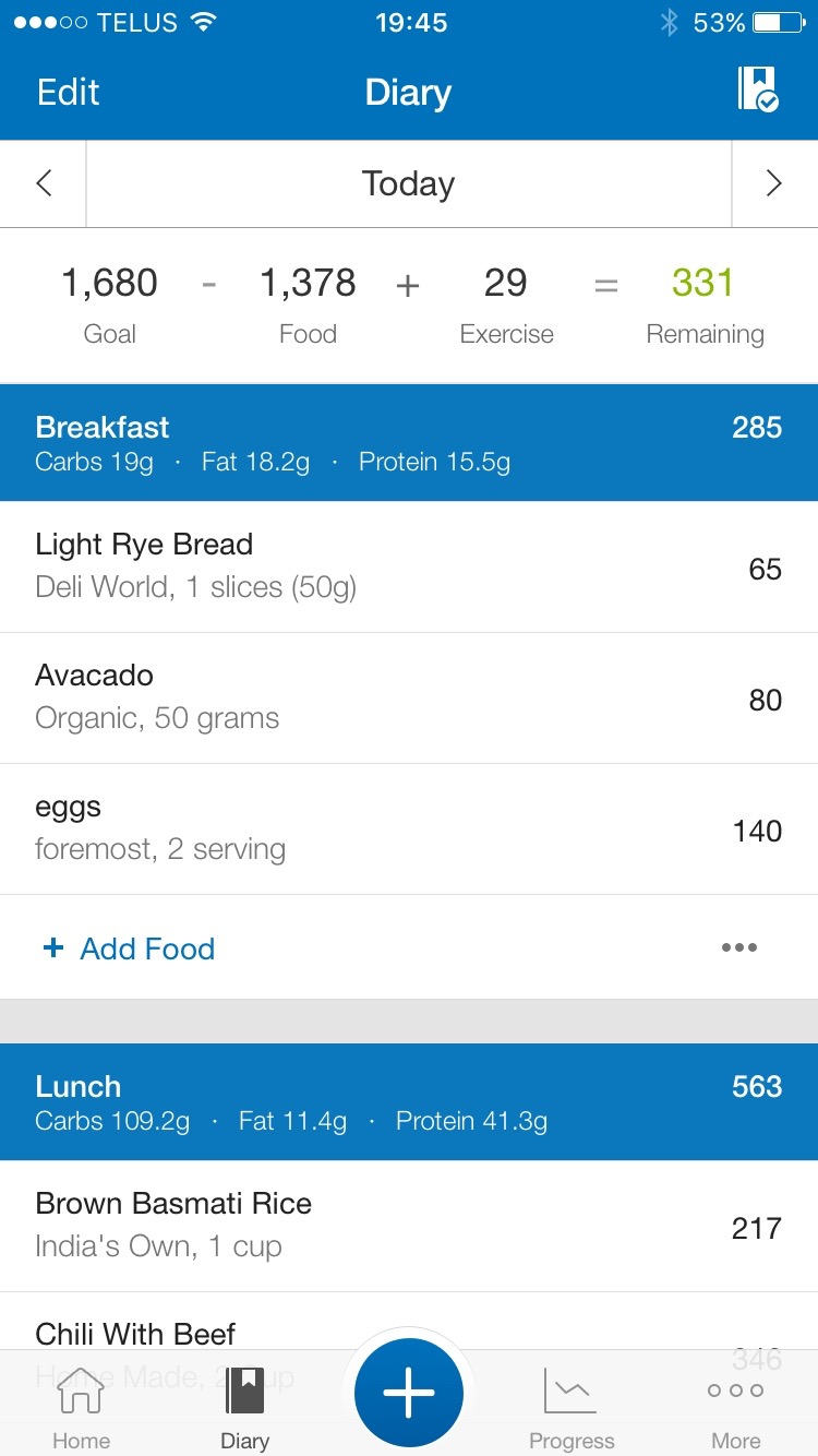 I used to eat 1680 calories in one meal....