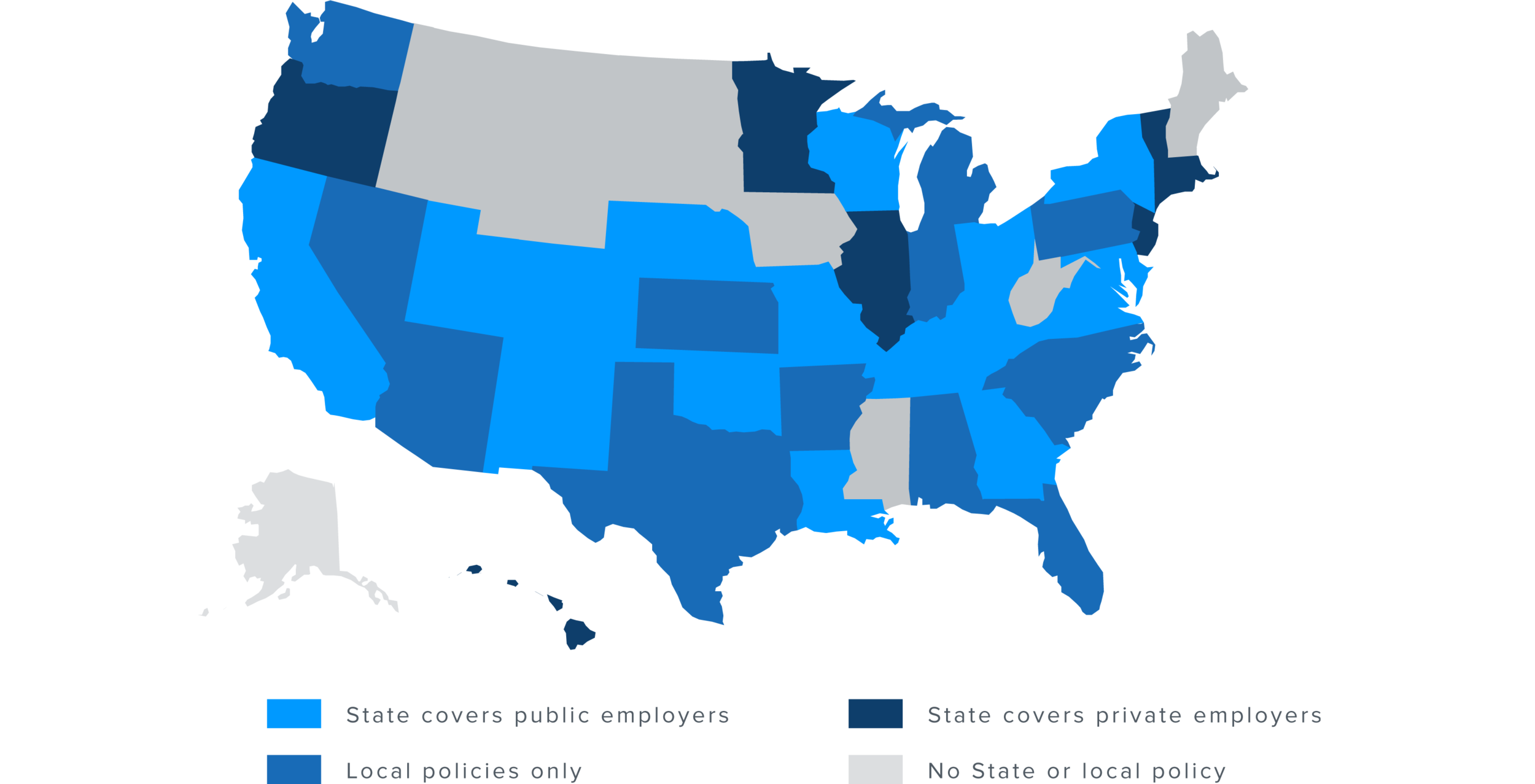 (City and state data compiled by The National Employment Law Program.)