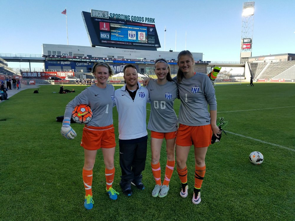 Manning the sidelines of Dick's Sporting Goods Park in Commerce, Colorado was a true coaching highlight. It was our girls senior night and we won 2-1.