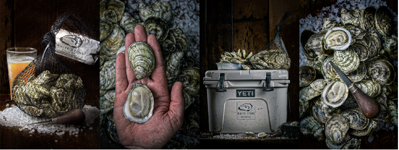Photography - White Stone Oyster Company - Gold