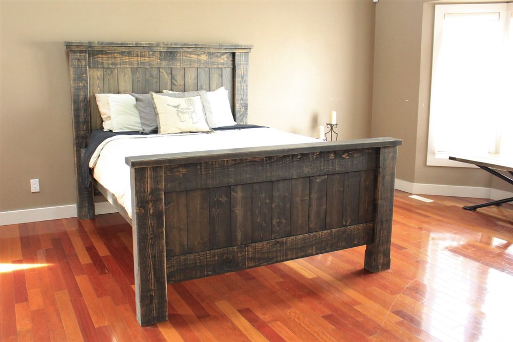 Wood Bed Frame Inspiration Iron Hide Woodworks