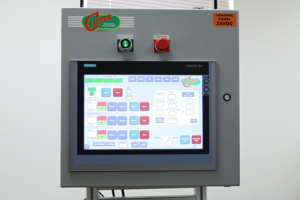 Clipper Seed Cleaners - HMI Control Cabinet