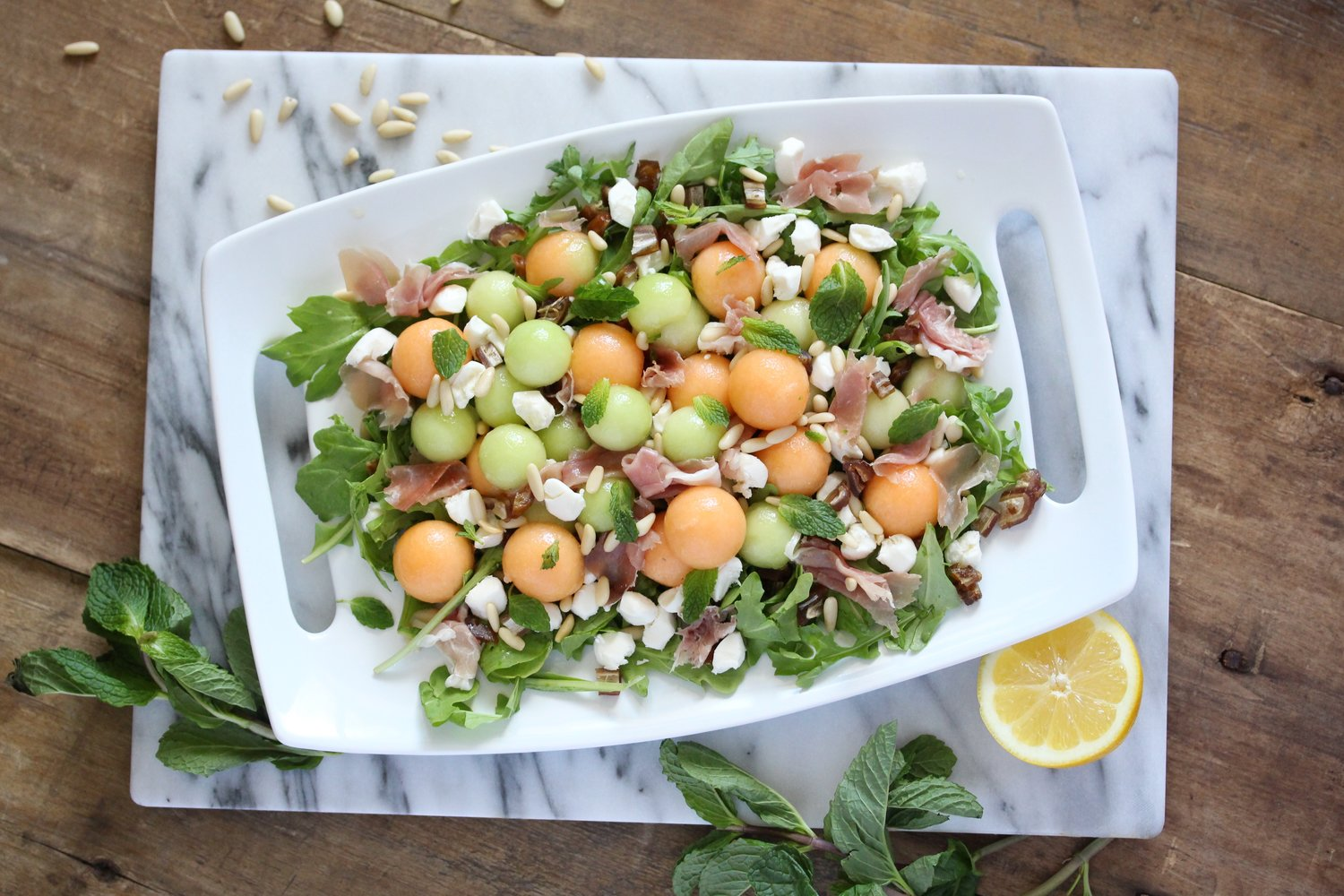 Prosciutto Melon Ball Salad