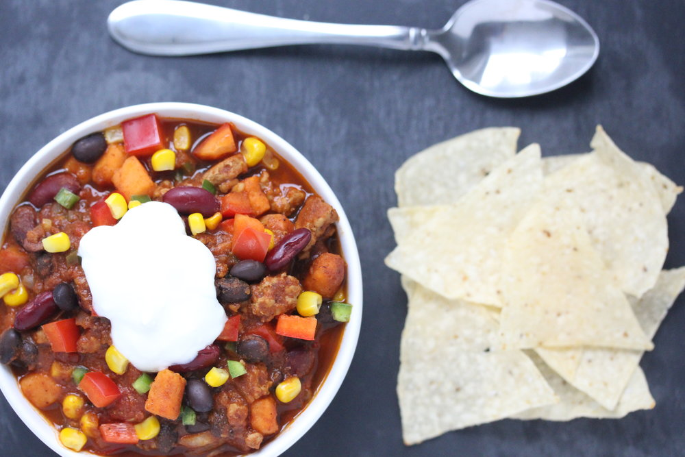 Healthy Veggie Loaded Turkey Chili