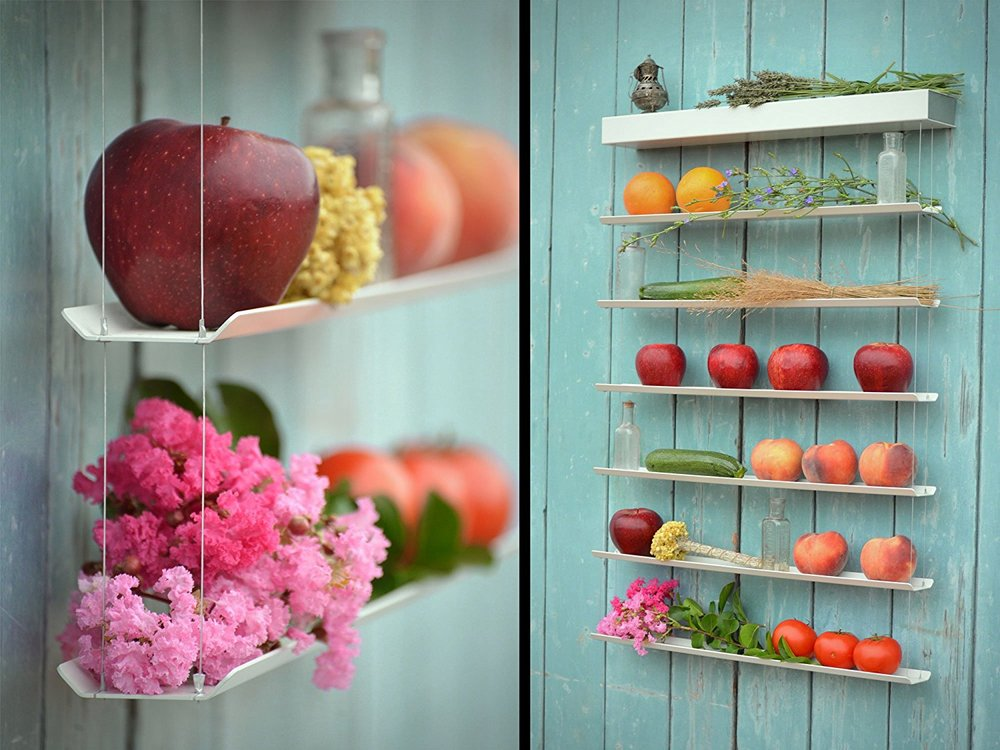 10. Fruit Wall Art - This fruit and vegetable storage unit is amazing. It is beautiful, functional and was purposely designed to hold fresh fruits and vegetables.