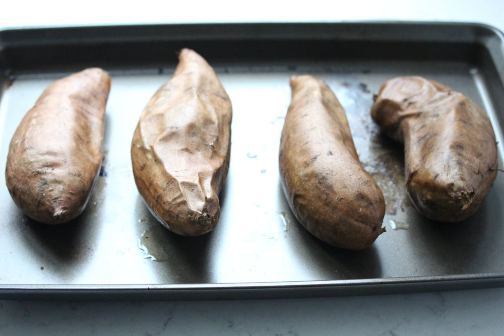 Healthy Sweet Potato Casserole with Maple Meringue