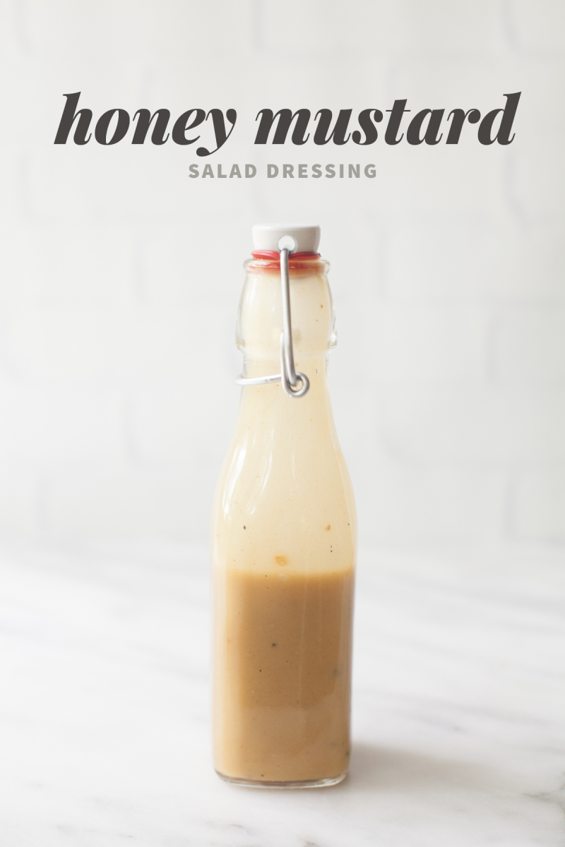 Honey Mustard Salad Dressing  by Wholefully