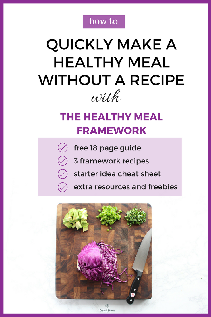 The Healthy Meal Framework