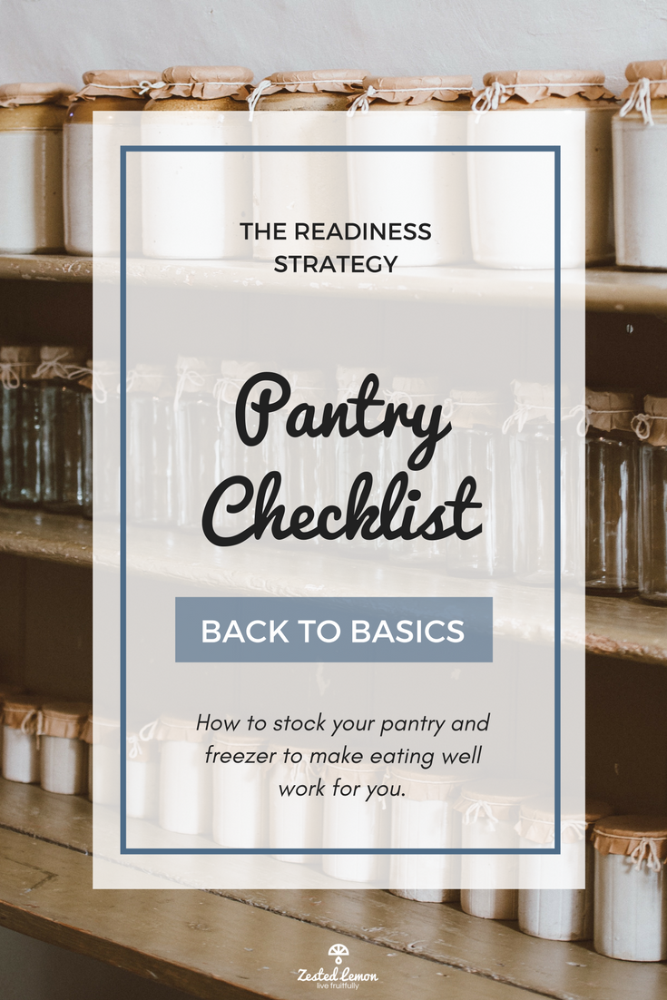 The Readiness Strategy Pantry Checklist