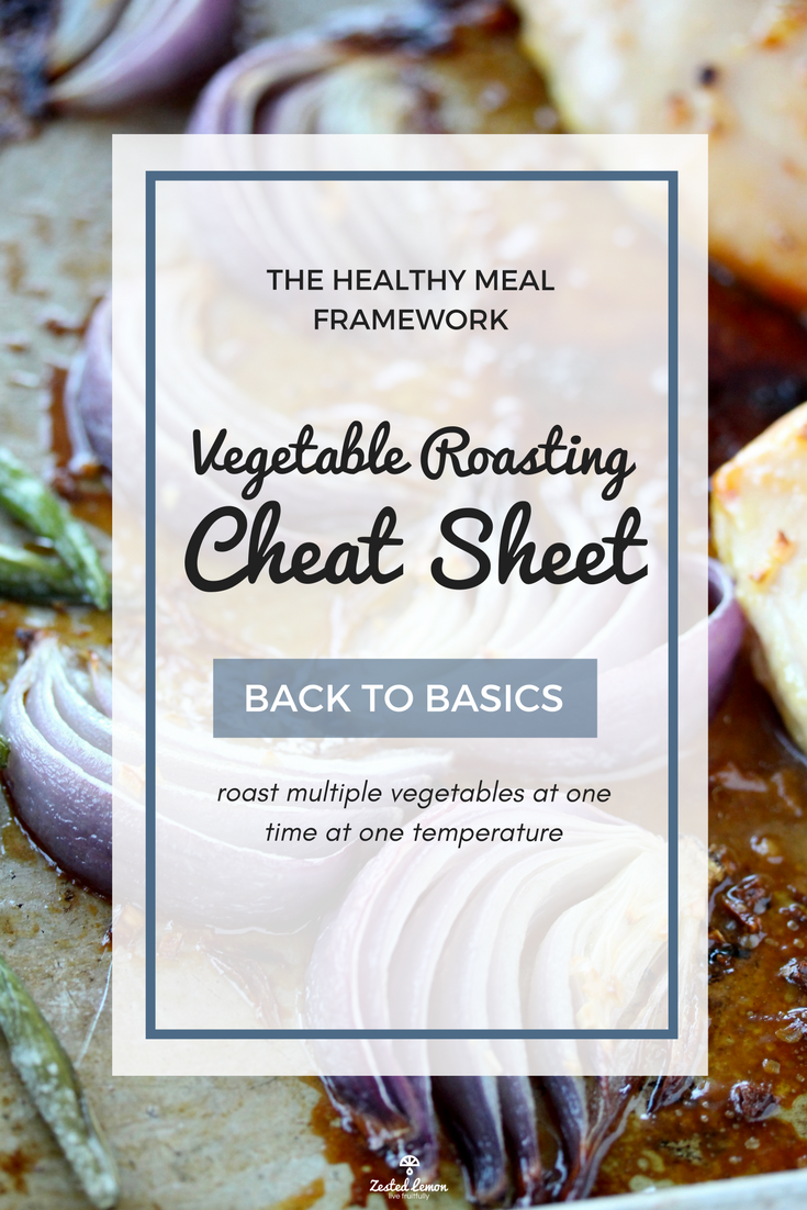Vegetable Roasting Cheat Sheet