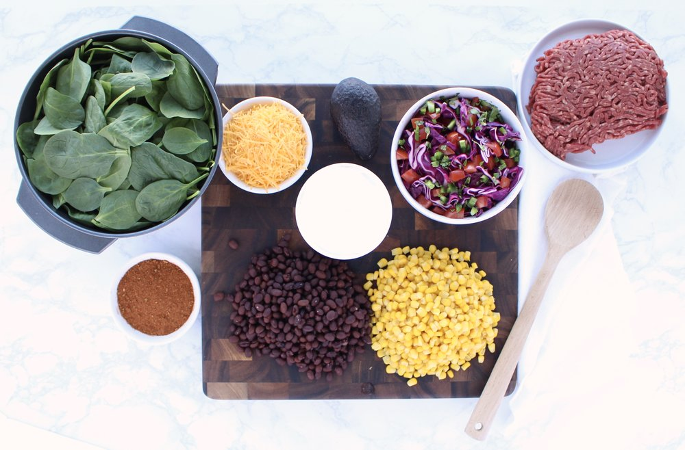 Fresh Taco Salad Ingredients