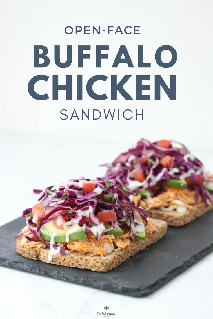 Open-Face Buffalo Chicken Sandwich