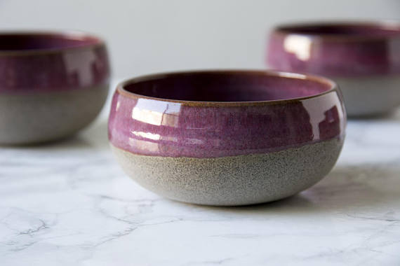 Mad About Pottery - Gigi, the creator of Mad About Pottery, creates every dish and plate by hand. This dishware has a rustic feel with natural textures and splashes of beautiful color. Perfect for a homey farmhouse feel, these dishes are one of a kind. Photo by Mad About Pottery
